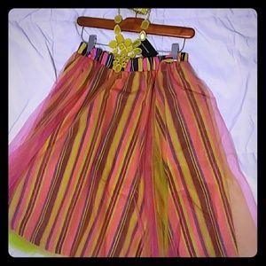 Ashley stewart multi color tulle skirt